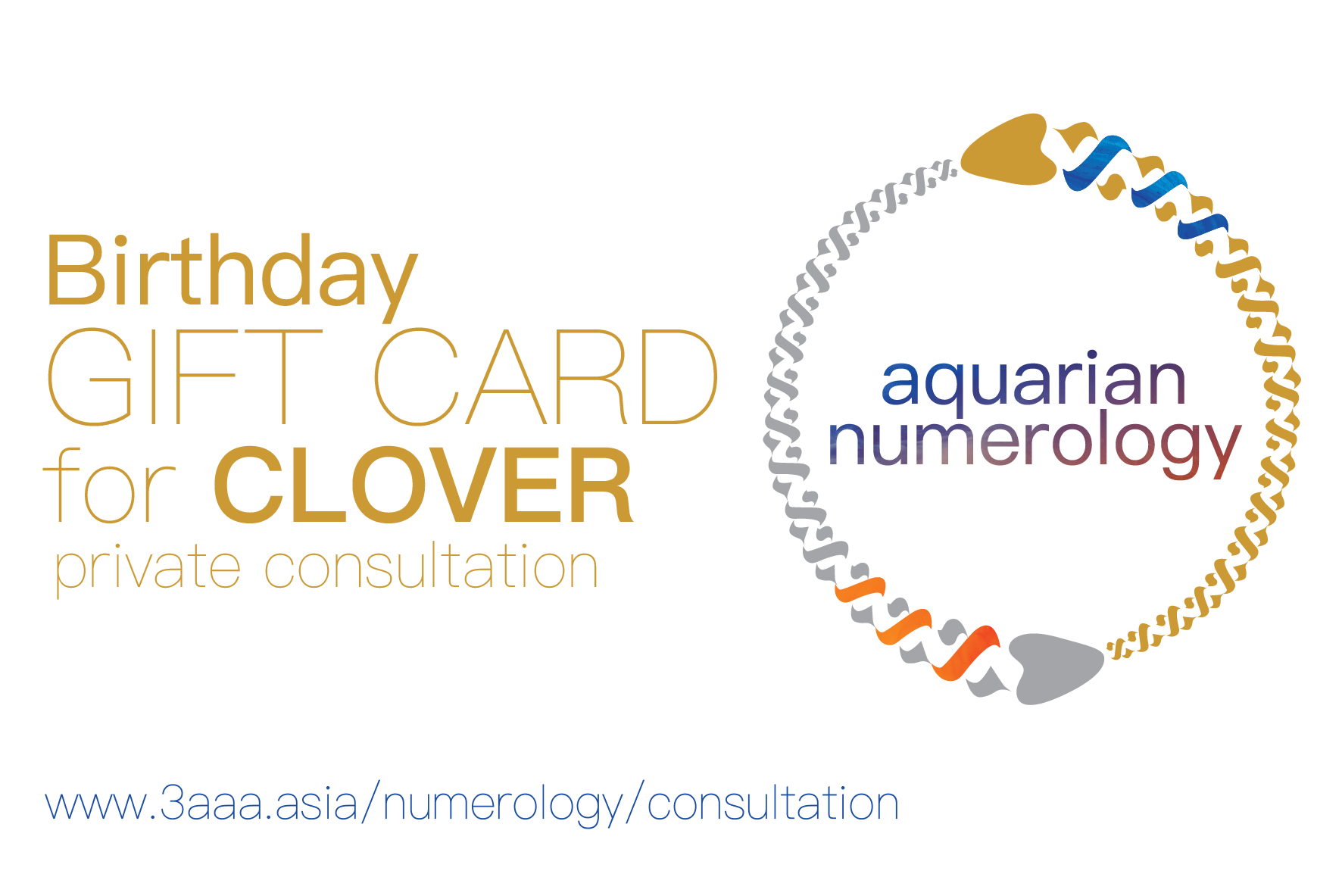 Aquarian Numerology Gift Card